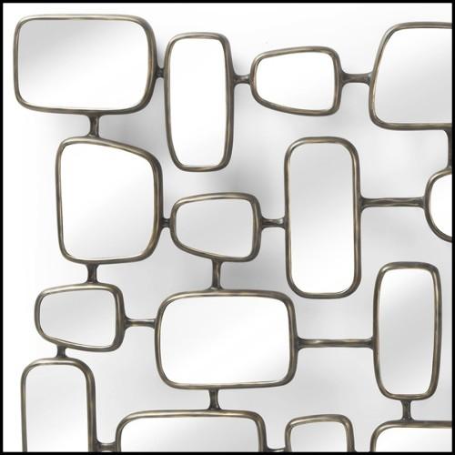 Décoration murale quadriptique en bois de paulownia sculpté à la main 70-Terra Wood