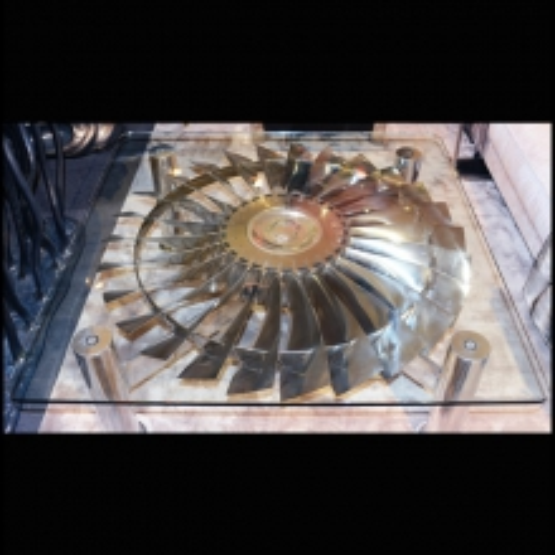 Coffee table Rolls Royce turbine motor 13-Pegasus