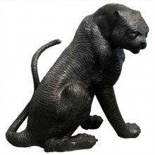 Sculpture en bronze 38-Tigre assis