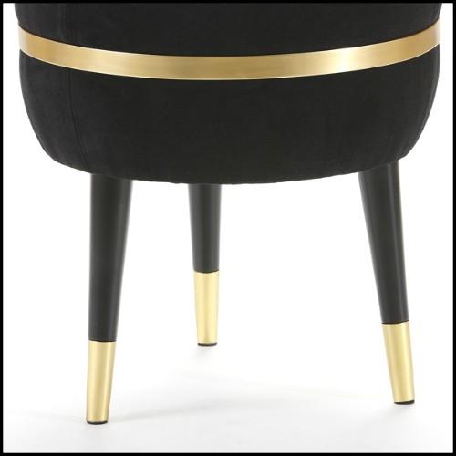 Table avec structure en aluminium thermolaqué et plateau en teck 45-Roma
