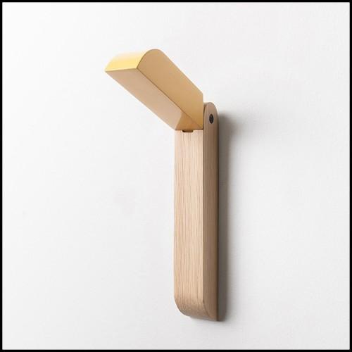 Table ronde en osier tissé et structure en aluminium 45-Havana