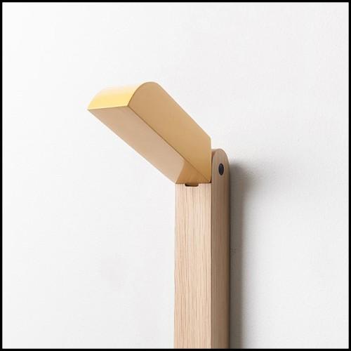 Table en osier tissé et structure en aluminium 45-Havana