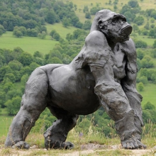 Sculpture Gorilla with silverback 11-GORILLA
