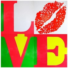 Painting on canvas wall decoration 143-Love and Kiss