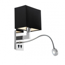 Applique en nickel avec liseuse flexible à LED 24-Reading