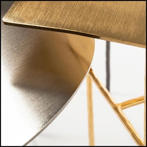 Coussin en velours noir avec fils d'or brodé à la main 24-Ryad