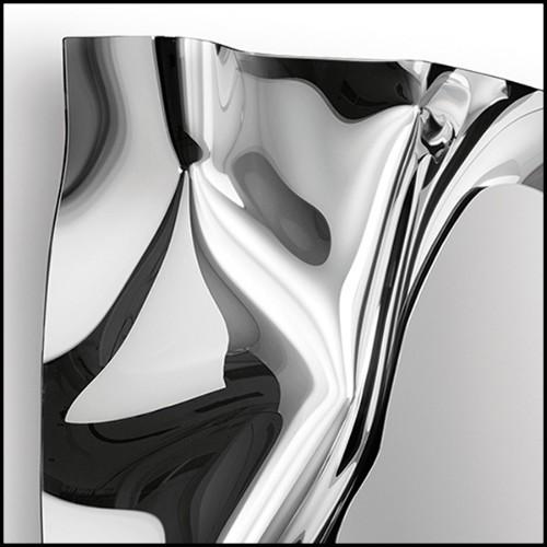 Vase vert émeraude en verre biseauté main 24-Mughal L