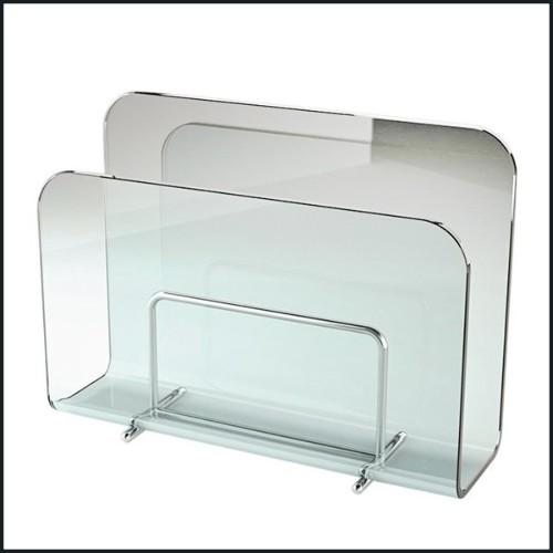 Vase en verre biseauté main 24-Emeraude