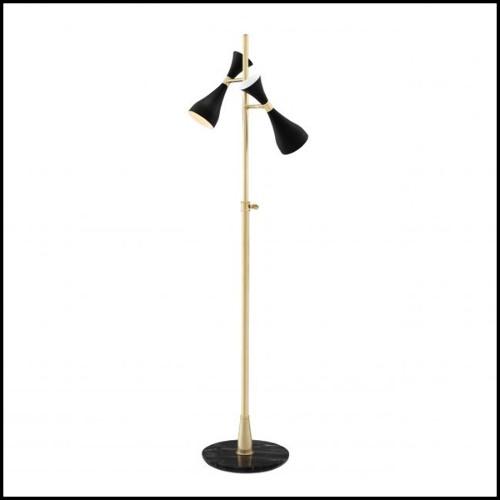 Table haute avec pieds en acier finition Brush et plateau en Teck Naturel recyclé 09-Double