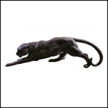 Sculpture en bronze ciselé 38-Panther Medium