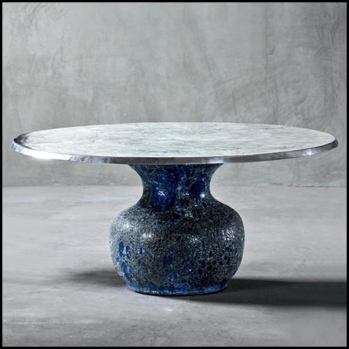 Lampe de salon sur base en laiton poli avec pierre en verre taillé couleur Emeraude à l'intérieur de la base 156-Jewelery