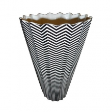 Vase porcelain with stripes 38-Rayures