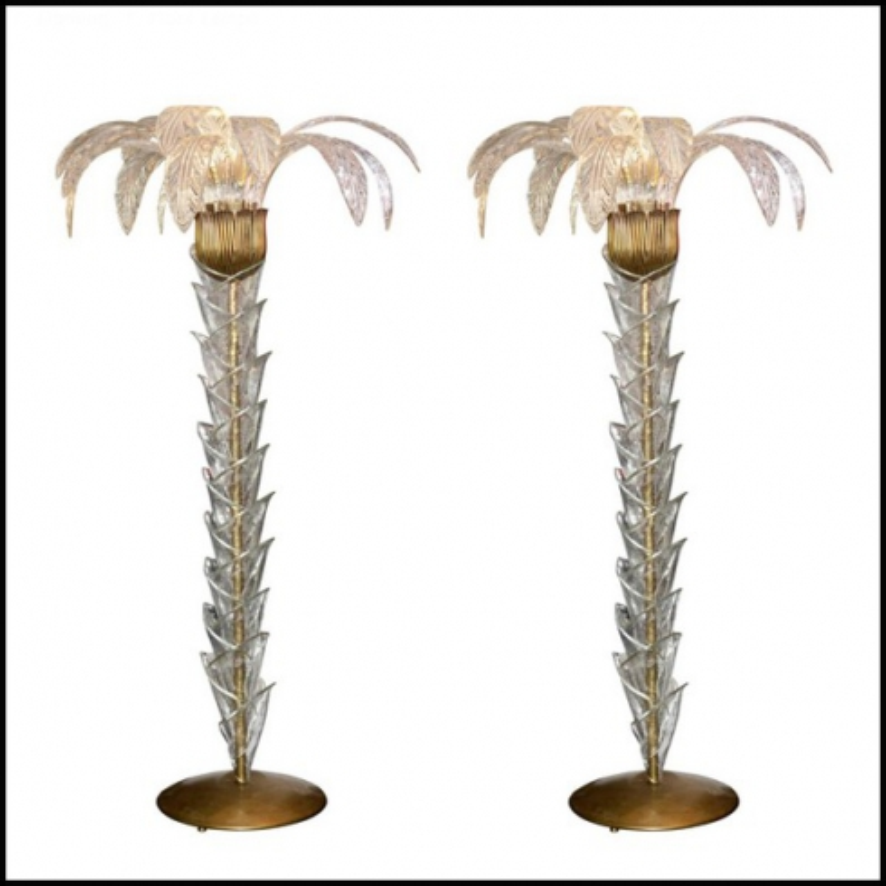 Murano Floor Lamp Set Of Two Art Deco