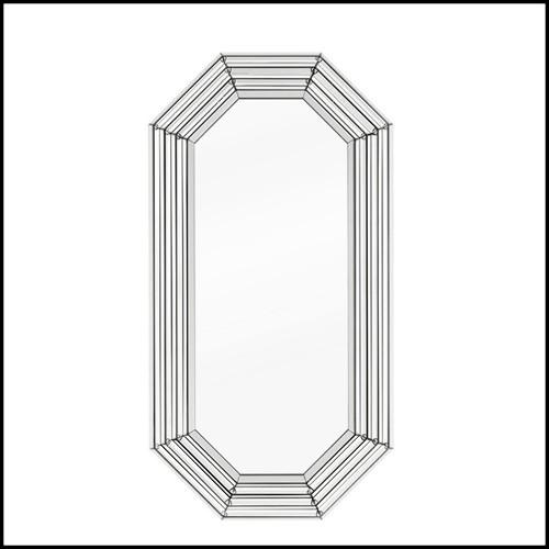 Console Venise avec plateau 8mm en verre fumé et six troncs de bois 154-Venise