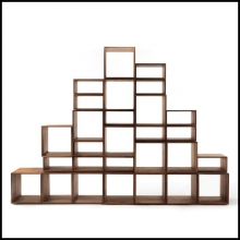 Bookcase in Solid Walnut Wood Made With 28 Free Boxes 154-Free