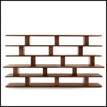 Bookshelf in Solid Walnut Wood available in Cherrywood or Maple or Oak 154-Books