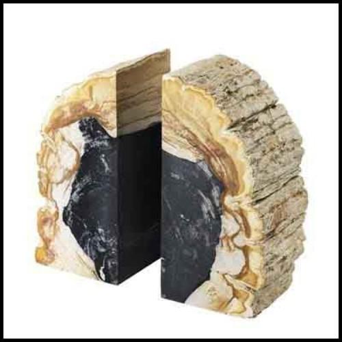 Fauteuil en bois de cèdre naturel massif sur base métallique rotative 154-Desk