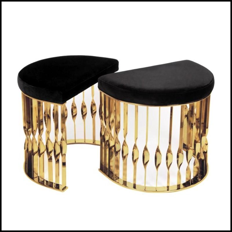 4228a8fb66254 Table tranche de tronc d arbre en bois naturel chêne massif avec écorce  structure en métal de couleur bronze 154-Trunk Slice - Pacific Compagnie