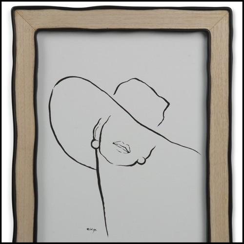 Miroir avec morceaux de verre rouge et blanc taillés PC-Diamant