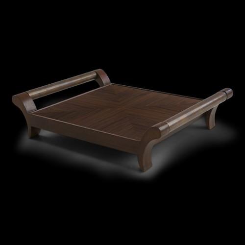 Set de deux sculptures en fonte PC-Chiens FU