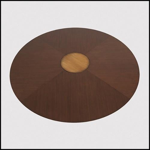 Table basse en laiton vieilli et plateau en verre 155-Japanese Carpus