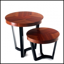 Side table designed set of two made from mahogany tops in palisander wood 145-Designed