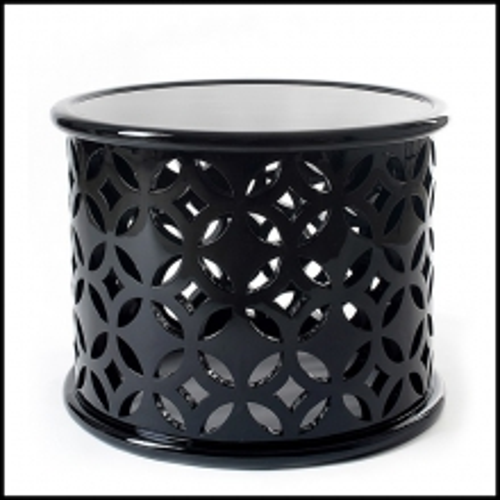 Table d'appoint Soledad faite en acajou laqué en noir 145-Soledad