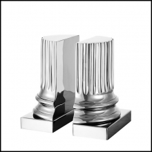 Bookend Set of 2 Column in Polished Nickel Finish 24-Nickeled