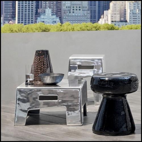 Paravent en fibre de verre peint en blanc mat composé de 4 panneaux Design par Pierre Cardin 1970 PC-Rounds and Squares