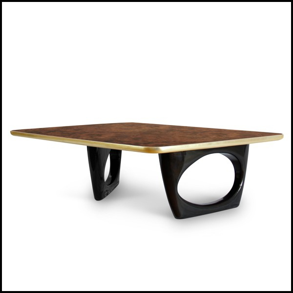 table basse avec plateau en racine de noyer massif vernis. Black Bedroom Furniture Sets. Home Design Ideas
