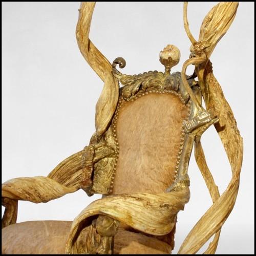 Tabouret en marbre de Carrare véritable travaillé à la main 155-Marble Worked