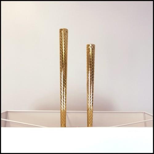Table basse ronde avec plateau en noyer massif verni et avec laiton vintage 155-Chloe