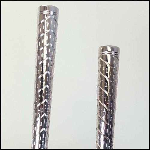 Table basse structure en bois et cuir catégorie C plateau en marbre 150-WALTER B