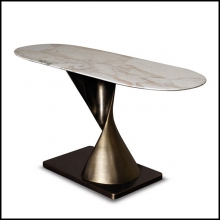 Console with bronze base  and Emperador marble top 150-EVA