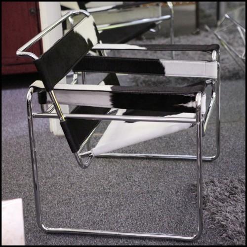 Buffet ou Cabinet avec structure en bois avec parties recouvertes d'éléments métalliques 145-Blocks