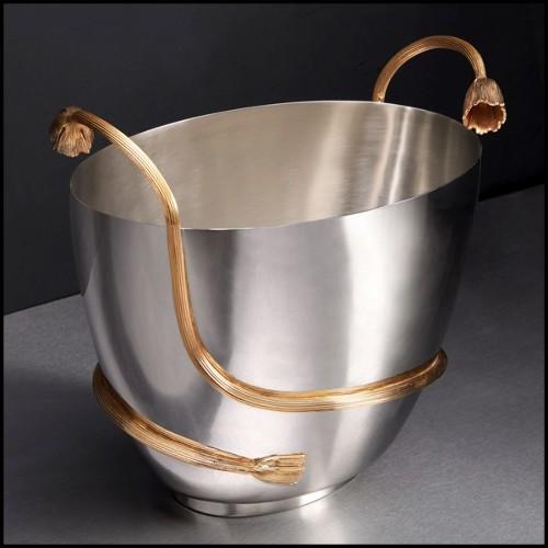 Cabinet ou Bar recouvert de feuilles de cuivre avec peinture cuivrée dégradée noire 145-Dali