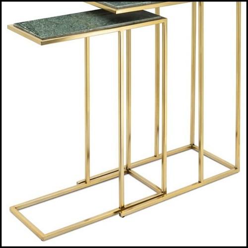 Bar Planishere en cuivre poli martelé à la main avec pieds en bois avec peinture laquée noire 145-Planisphere