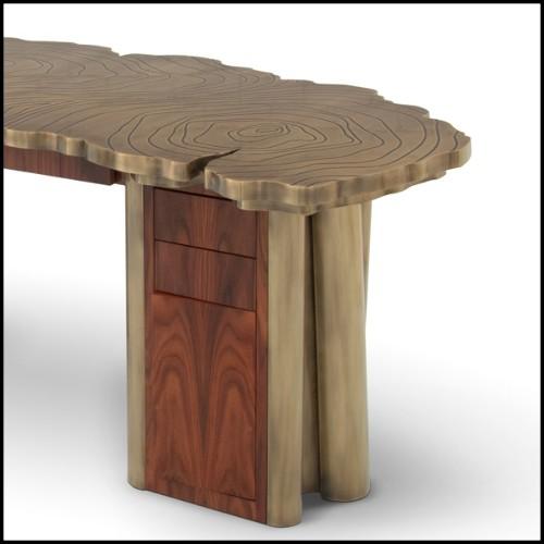 Chevet en verre taillé à la main et structure en bois de peuplier massif 140-Clear Glass 140-Clear Glass