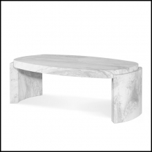 Coffee table in white Carrara marble 155-Ankara