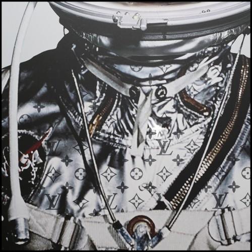 Miroir finition ambré avec verre miroir biseauté 24-Chartier