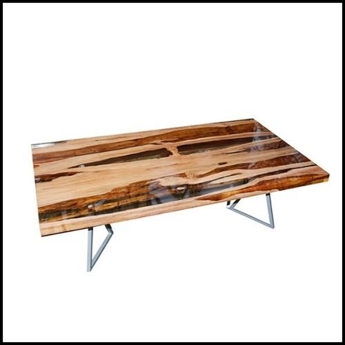 Suspension finition Gold et sphères en verre clair 24-Estrella