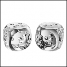 Set of two dice in crystal glass 24-Dice