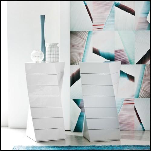 Set de deux serres-livres en marbre noir 24-Blocks Marble