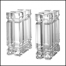 Set of two bookends in crystal 24-Linea