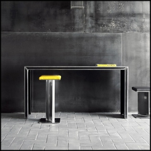 Console table in handcrafted steel matte lacquered finish 147-Full Acier