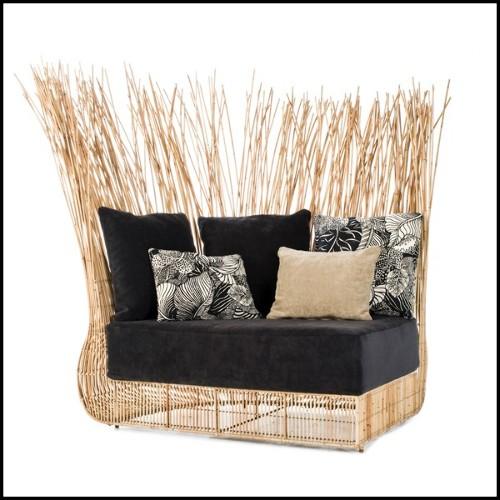 Miroir finition laiton vintage avec miroir en verre biseauté 24-Palms
