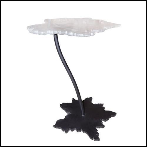 Plaque de sel de Taoudenni au Mali sur base en bronze PC-Salt Plate