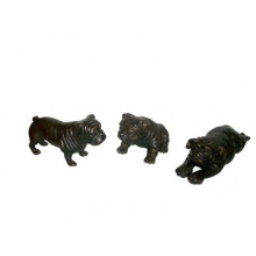 Chien décoratif en bronze 38-Bulldog