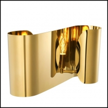 Wall lamp in gold finish or in stainless steel finish 24-Crawley
