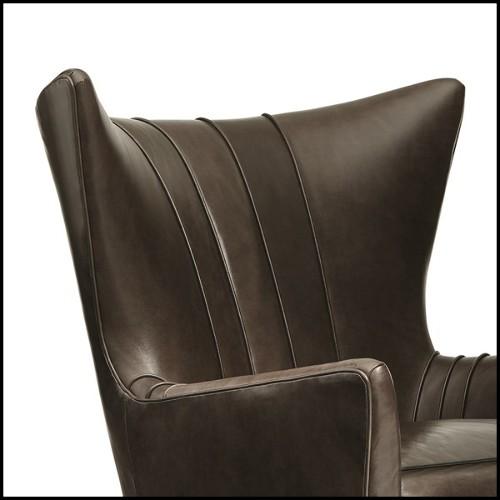 Miroir avec verres biseautés en acier inoxydable finition Gold 24-Mandel